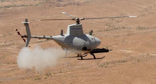 Рисунок 3. Пуски ракет MK 66 с БЛА Fire Scout проводились на армейском полигоне Yuma