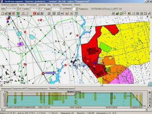 Рисунок 1. Общая структура воздушного пространства в регионе (с УКА ППД «Позитив»)