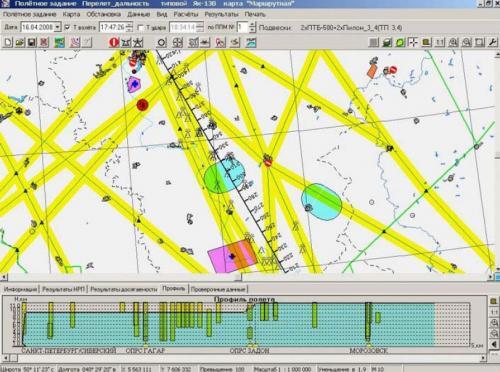 Рисунок 2. Структура воздушного пространства в районе ЕС ОрВД (с УКА ППД «Позитив»)