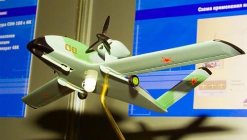 Рисунок 1. Макет БЛА «Аист» на выставке UVS-TECH-2007