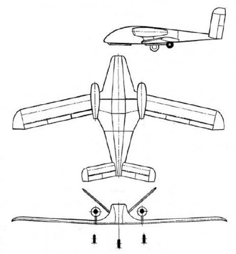 Рисунок 2. БЛА «Аист» (из патента)