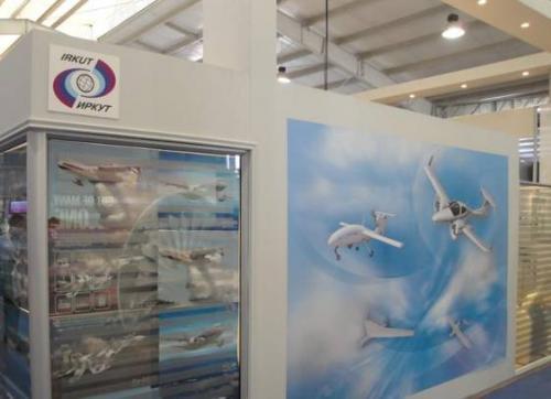 В экспозиции российских компаний упоминание беспилотников присутствовало только на стенде компании «Иркут»